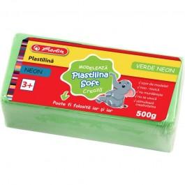 Plastilina Soft Clay Herlitz 500g - Verde Neon
