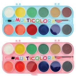 Acuarele pastile Multicolora Daco 12 culori