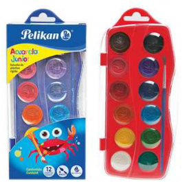 Acuarele pastile Pelikan Junior 12 culori