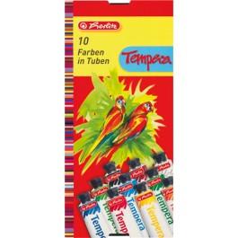 Acuarele tempera Herlitz 10 culori 16ml