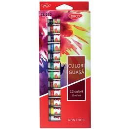 Acuarele tuburi guasa Daco 12 culori 12ml