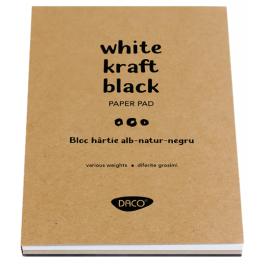 Bloc hartie alba-natur-neagra Daco