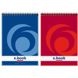 Bloc notes spira A5 50 file Herlitz X.Book - matematica
