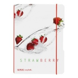 Caiet My.Book Flex Herlitz A5 2x40f dictando+matematica Fresh Fruit Capsuni