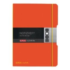 Caiet My.Book Flex Herlitz A4 2x40f dictando+matematica portocaliu