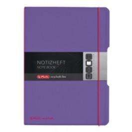 Caiet My.Book Flex Herlitz A4 2x40f dictando+matematica violet transparent