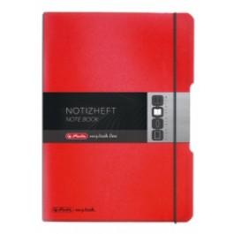 Caiet My.Book Flex Herlitz A6 40f dictando rosu transparent