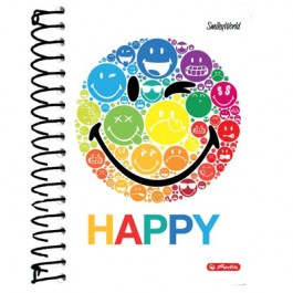 Caiet spira A6 200 file Herlitz SmileyWorld Rainbow