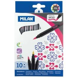 Carioci Milan 10 culori tip pensula