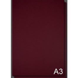 Coperta carton imitatie piele A3 - Rosu Bordo