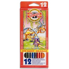 Creioane colorate Koh I Noor 12 culori