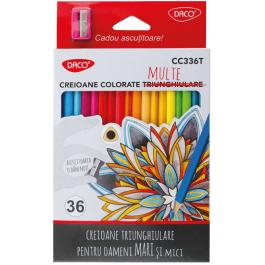 Creioane colorate Daco 36 culori