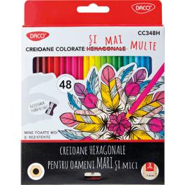 Creioane colorate Daco 48 culori