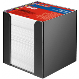 Cub hartie Herlitz 9X9X9cm cu suport negru