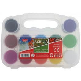 Culori acrilice Acrilia Daco 12 culori