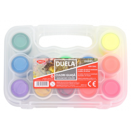 Culori borcan Duela Daco 6 culori metalizate + 6 culori neon