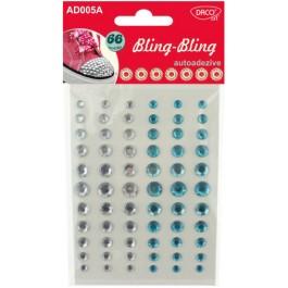 Diamante autoadezive Bling Bling - alb albastru