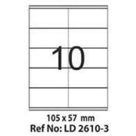 Etichete autoadezive 10 coala 105 x 57 mm