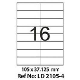 Etichete autoadezive 16/A4 105x37.125 mm