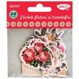 Etichete fluturi si trandafiri Daco