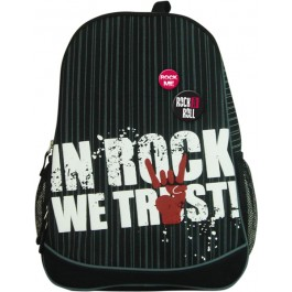 ghiozdan tip rucsac in rock we trust