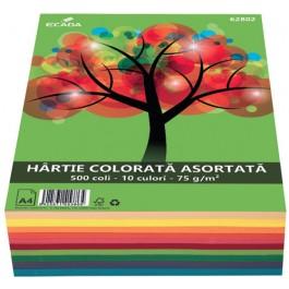 Hartie colorata asortata A4 75g 500 coli 10 culori