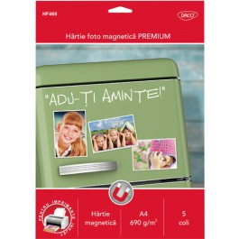 Hartie foto magnetica Daco A4 690g 5 coli