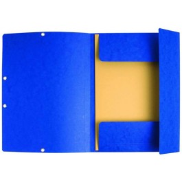 Mapa carton cu elastic A4 albastra