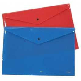 Mapa plastic cu capsa A3 Daco - albastra