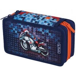 Penar echipat 31 piese 3 compartimente Herlitz Smart Motorbike