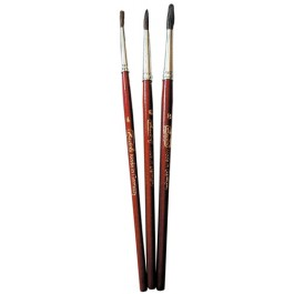 Pensule varf rotund Herlitz 3 buc/set