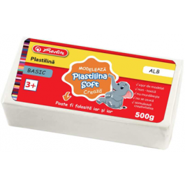 Plastilina Soft Clay Herlitz 500g - Alb