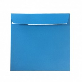 Plic colorat patrat 14x14 albastru
