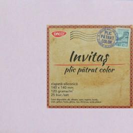Plic colorat patrat 14x14 glicina (lila)