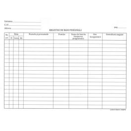 Registru bani personali A4 100 file