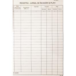 Registru de incasari si plati A4 , 100 file