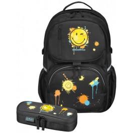 Rucsac echipat cu penar Be.Bag Herlitz Smiley World Black 11370004