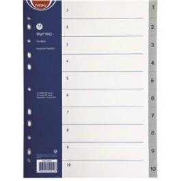 separatoare index plastic noki cifre 1-10
