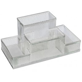 suport birou ecada 4 compartimente argintiu