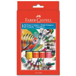 acuarele tempera faber castell 12 culori