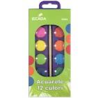 Acuarele pastile Ecada 12 culori
