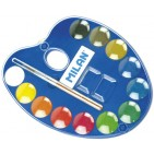Acuarele pastile paleta Milan 12 culori 25mm