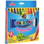 Carioci groase Carioca Jumbo 12 culori