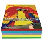 Carton colorat asortat A4 160g 5 culori 250 coli