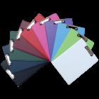 Clipboard A4 dublu Daco - diferite culori