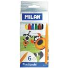 Creioane colorate cerate Milan 6 culori