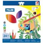 Creioane colorate Milan 24 culori