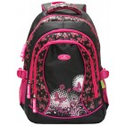 Ghiozdan scolar Ecada 61132 Fluturasi roz cu negru