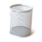 Suport birou cilindric Ecada - Argintiu