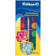 Acuarele pastile Pelikan 12 culori + tub alb
